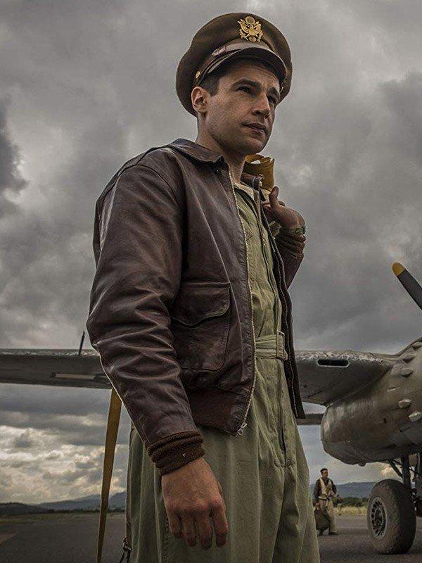 Christopher Abbott Catch-22 Yossarian Leather Jacket