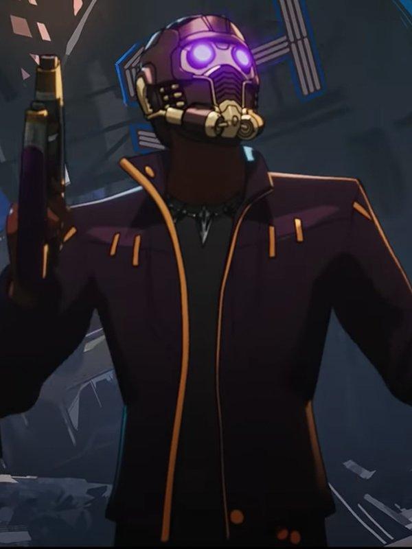 Chadwick Boseman Animated Series What If… Purple Faux Leather Jacket