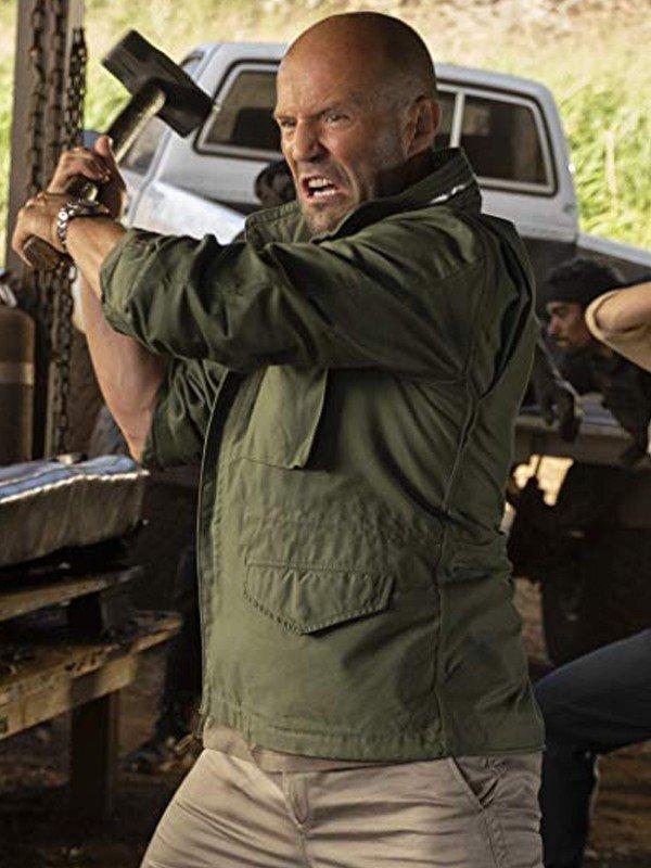 Jason Statham Fast and Furious Hobbs and Shaw Deckard Shaw Cotton Jacket