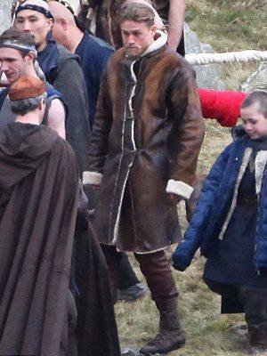 charlie-hunnam-king-arthur-Leather-coat