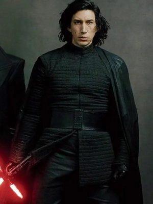 Kylo Ren Star Wars the Last Jedi Adam Driver Black Cotton Jacket