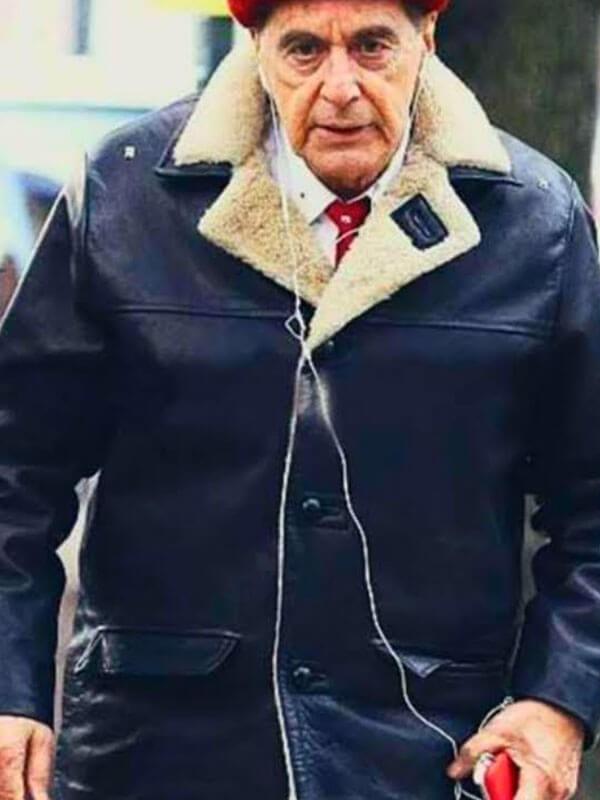 Jimmy Hoffa The Irishman 2019 Al Pacino Leather Jacket