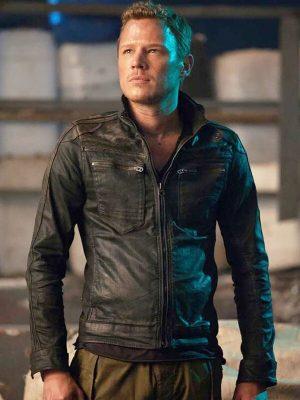 Alex LannenDominion Christopher Egan Black Leather Jacket