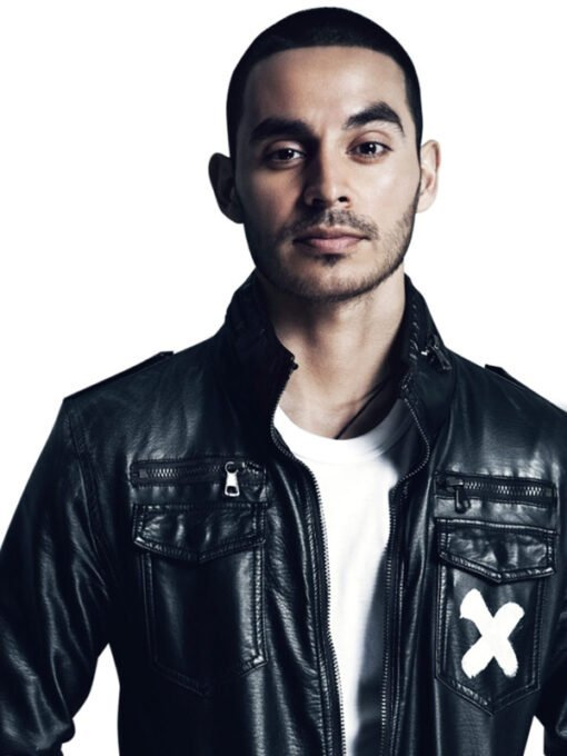 American Actor Manny Montana Black Bomber Leather Jacket