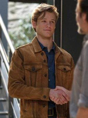 Lucas Till TV Series MacGyver Brown Leather Jacket