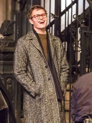 Ansel Elgort The Goldfinch MovieTheodore Decker Wool Trench Coat