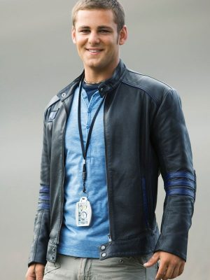 Flynn Mcallistair Power Rangers Rpm Ari Boyland Leather Jacket