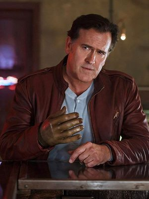 Bruce Campbell TV Series Ash vs Evil Dead Ash J. Williams Leather Jacket