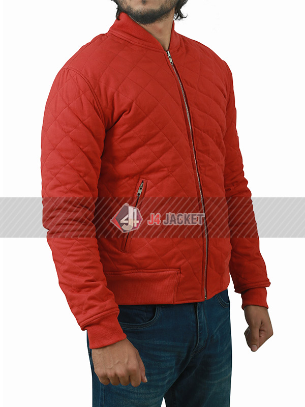 Barry Allen TV Series The Flash Grant Gustin Quilted Bomber Jacket