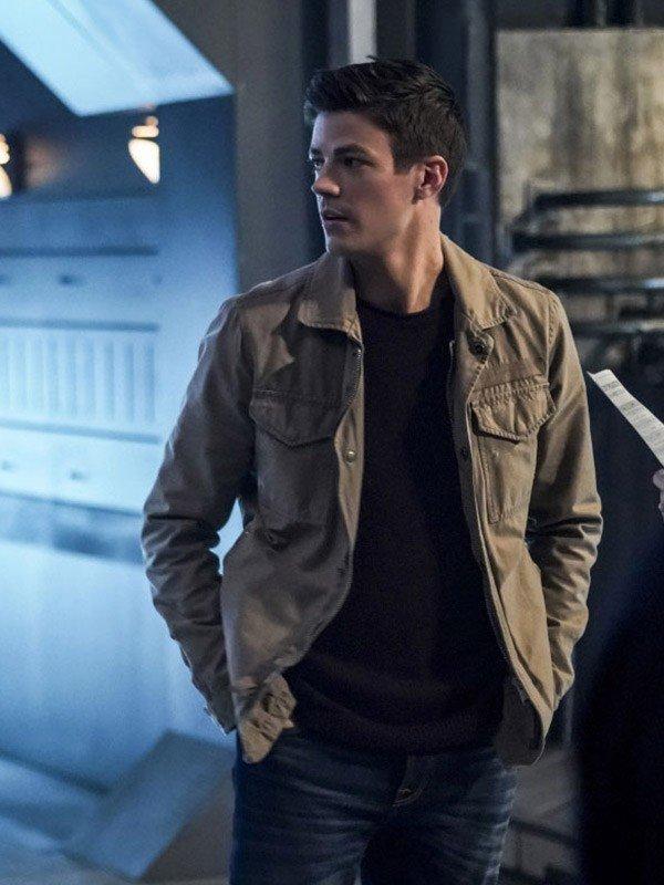 TV Series The Flash Season 5 Barry Allen Brown Cotton Jacket