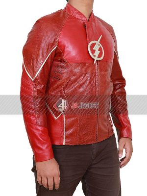 Grant Gustin The Flash Barry Allen Red Jacket