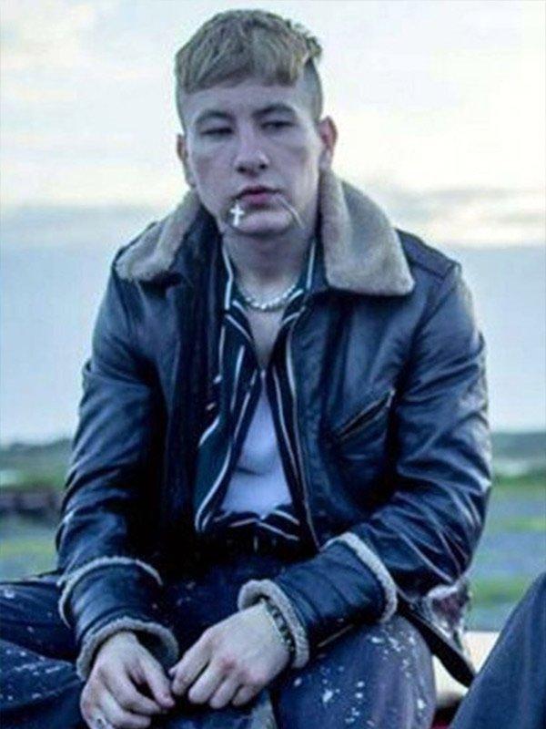 Barry Keoghan Eternals Movie 2021 Druig Shearling Black Leather Jacket