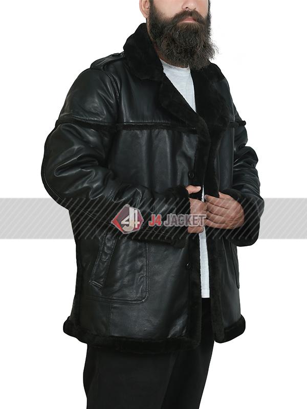 Ben Barnes TV Series The Punisher Season 2 Black Shearling Leather Jacket