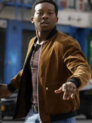 Brandon Micheal Hall TV Series God Friended Me Bomber Leather Jacket