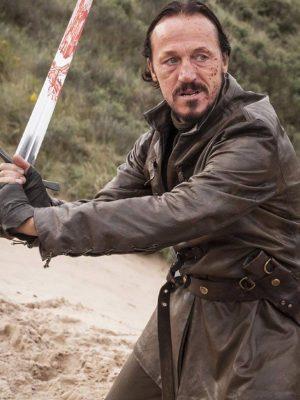 Bronn Game of Thrones Season 7 Jerome Flynn Leather Jacket