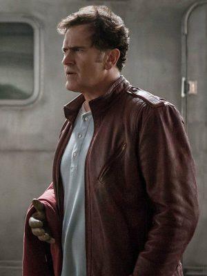 Ash J. Williams TV Series Ash vs Evil Dead Bruce Campbell Brown Leather Jacket