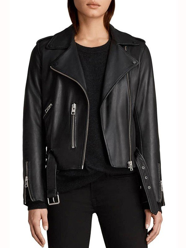 Pretty Little Liars the Perfectionists Sydney Park Biker Black Leather Jacket