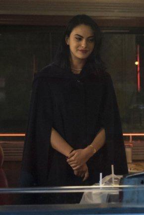 Veronica Lodge TV Series Riverdale Black Hooded Cape Coat