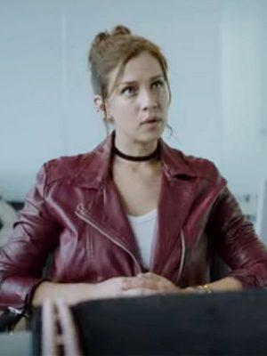 Carolina Miranda TV Series Who Killed Sara Maroon Biker Leather Jacket