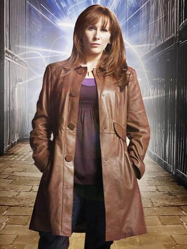 Donna Noble TV Series Doctor Who Leather Trench Coat