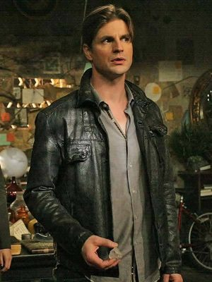 Gale Harold TV Series The Secret Circle Charles Meade Leather Jacket