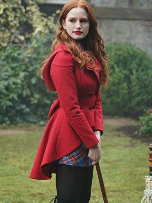Madelaine Petsch Tv Series Riverdale Cheryl Blossom Red Wool Hooded Jacket