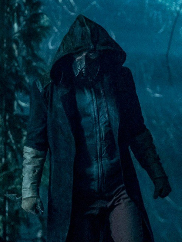 Chris Klein The Flash Cicada Brown Hooded Leather Coat