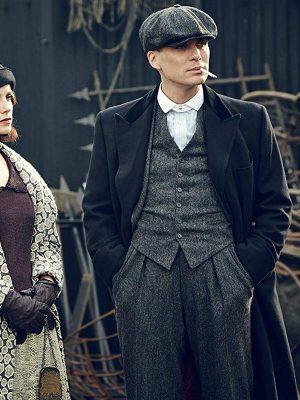 Cillian Murphy TV Series Peaky Blinders Thomas Shelby Wool Coat