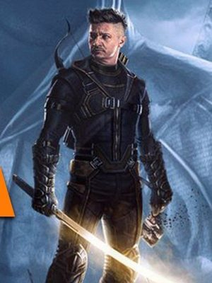 Jeremy Renner Avengers Endgames Clint Barton Hooded Leather Jacket