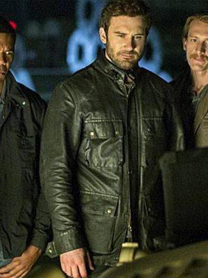 Clive StandenTaken Bryan Mills Leather Jacket