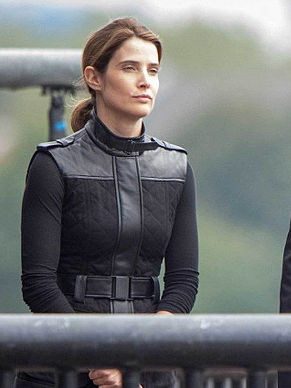 Maria Hill Spiderman Far from Home Cobie Smulders Cotton Black Vest