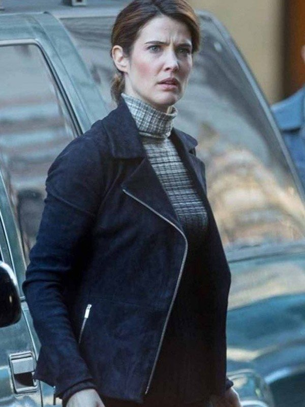 Maria Hill Spiderman Far from Home Cobie Smulders Leather Jacket