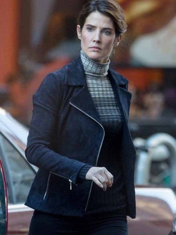 Maria Hill Spiderman Far from Home Cobie Smulders Black Leather Jacket