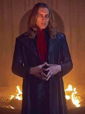 Michael LangdonTV Series American Horror Story Black Leather Trench Coat