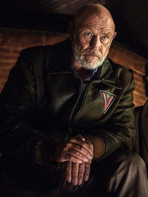 TV Series American Gods Vulcan Leather Bomber Jacket