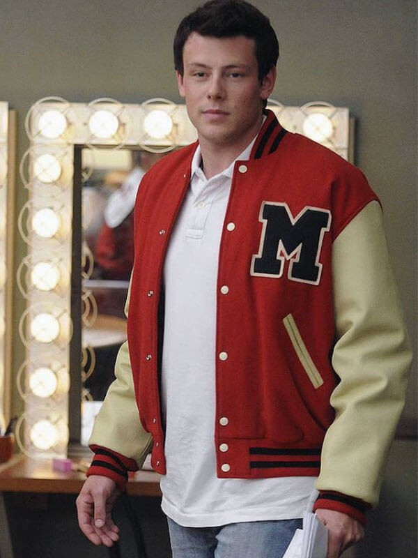 Cory Monteith Glee Finn Hudson Letterman Wool Varsity Jacket