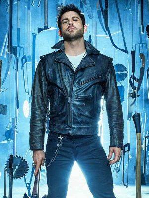 Lindsay Farris TV Series Ash vs Evil Dead Dalton Black Biker Leather Jacket
