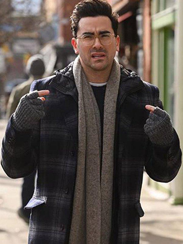 John Happiest Season 2020 Dan Levy Plaid Wool Coat