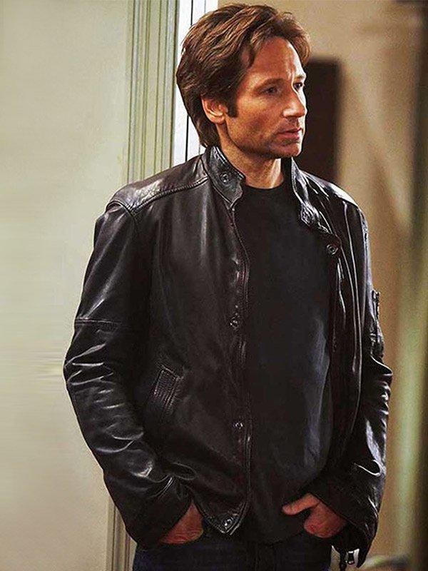 Hank Moody Californication David Duchovny Leather Jacket