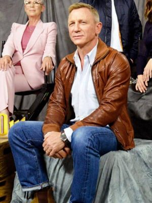 Knives Out Detective Benoit Blanc Leather Jacket
