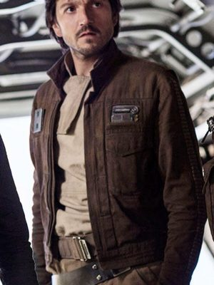 Captain Cassian Andor Rogue One A Star Wars Story Brown Cotton Jacket