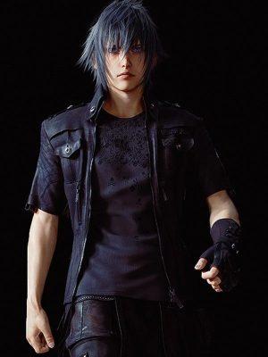 Noctis Lucis Caelum Dissidia Final Fantasy Black Leather Jacket