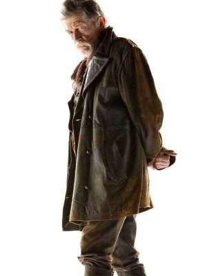 War Doctor Doctor Who John Hurt Brown Distressed Leather Trench Coat