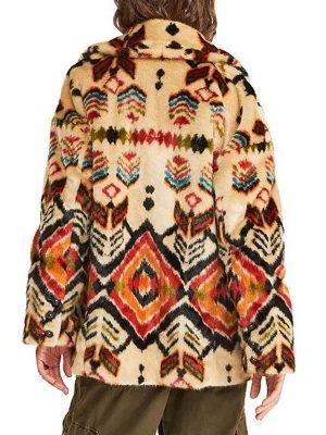 Dominique Provost-Chalkley Wynonna Earp Season 04 Waverly Earp Shearling Coat