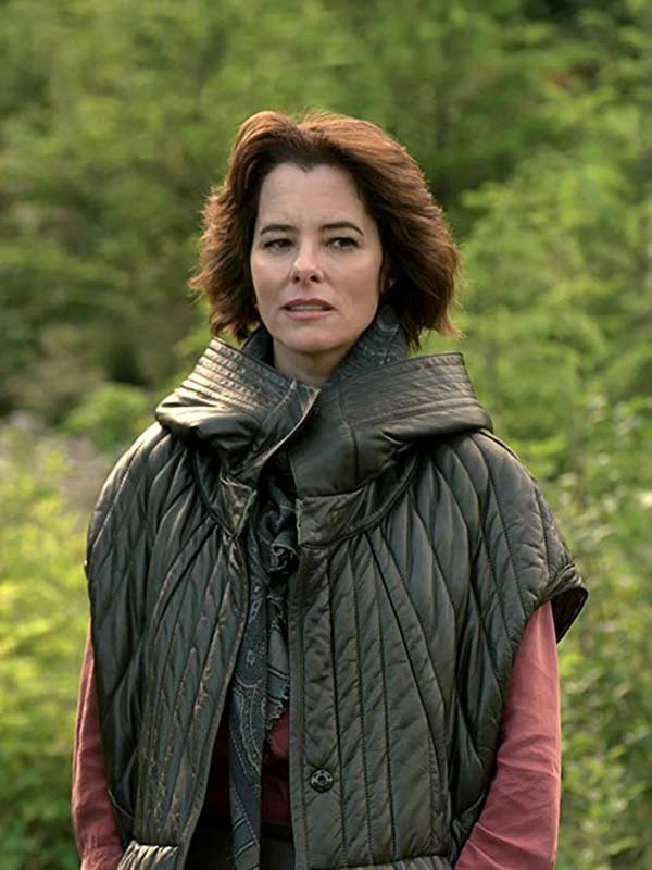 Parker Posey Lost in Space 2018 Dr Zachary Smith Hooded Quilted Jacket