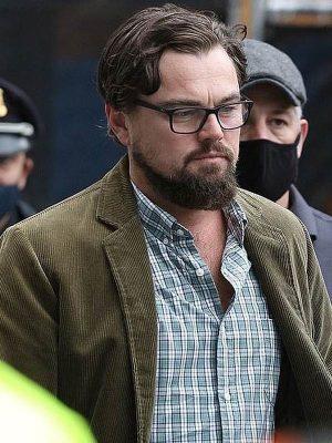 Leonardo Dicaprio Don't Look Up Green Corduroy Jacket