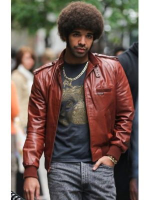 Drake Anchorman 2 The Legend Continues Soul Brother Brown Leather Jacket