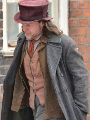 Ebenezer Scrooge A Christmas Carol Guy Pearce Grey Coat