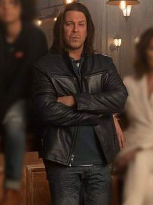 Eliot Spencer Leverage Redemption Christian Kane Leather Jacket