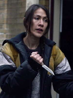 Niska Tailfeathers Night Raiders Movie 2021 Elle-Maija Black Parachute Puffer Jacket